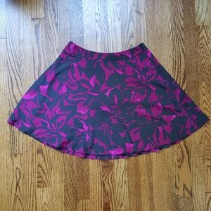 The Limited Purple & Black Floral Skirt 4